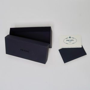Prada Empty Box and Authenticity Certificate Card